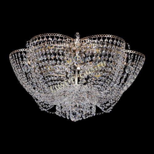 Люстра Камея Екатерина, диаметр - 600 мм, цвет - золото, Люстры Гусь Хрустальный