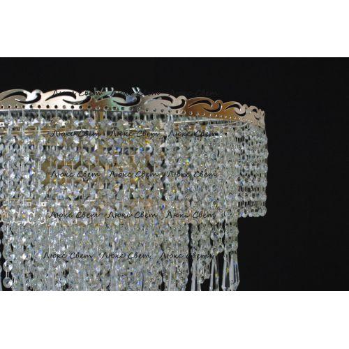 Люстра Капель цилиндр 5 ламп