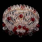 Люстра Катерина шар красная, диаметр 450 мм, цвет золото, Люстры Гусь Хрустальный