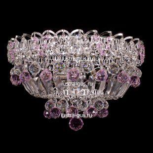 Люстра потолочная Катерина шар розовая