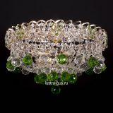 Люстра Катерина шар зеленая, диаметр 450 мм, цвет золото