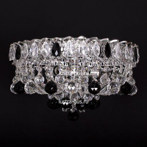 Люстра Катерина шар черная, диаметр 450 мм, цвет серебро, Люстры Гусь Хрустальный