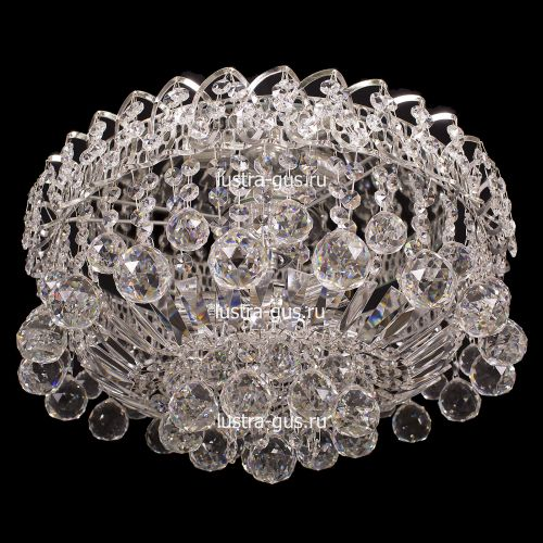 Люстра Катерина Шар, диаметр 450 мм, цвет серебро, Люстры Гусь Хрустальный