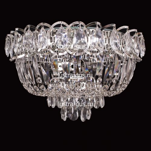 Люстра Катерина, диаметр 400 мм, цвет серебро Гусь Хрустальный