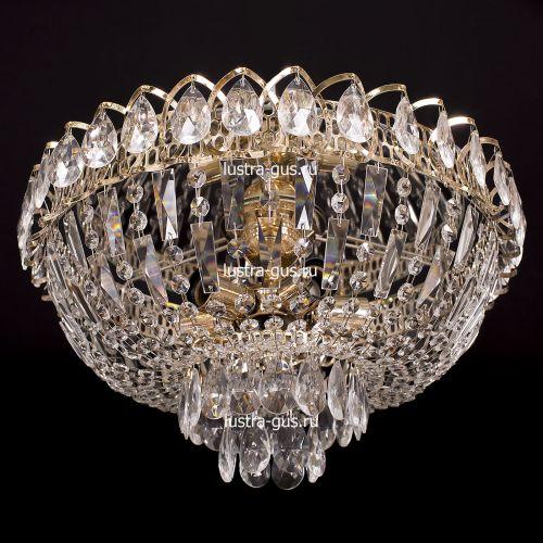 Люстра Катерина, диаметр 450 мм, цвет золото Гусь Хрустальный