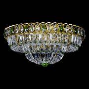 Люстра Кольцо Классика Пластинка зеленая под бронзу