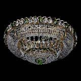 Люстра Кольцо Классика зеленая, диаметр 600 мм, подвески зеленого цвета, Люстры Гусь Хрустальный