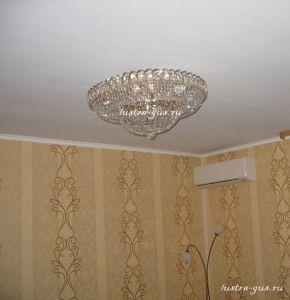 Хрустальная люстра Кольцо Купол (завод Гусь-Хрустальный) в интерьере квартиры