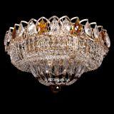 Люстра Классика цветная, диаметр 400 мм, с подвесками чайного цвета, Люстры Гусь Хрустальный