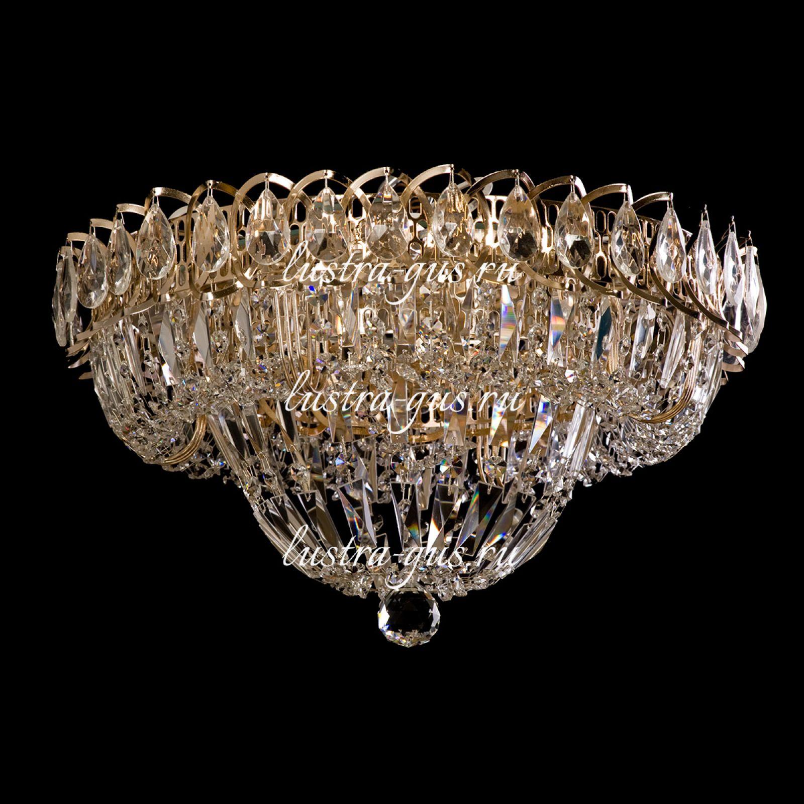 Люстра Кольцо Купол Пластинка 450 мм, золото