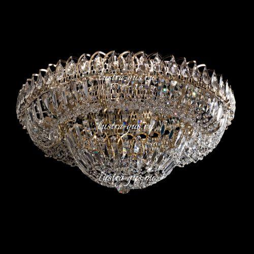 Люстра Кольцо Купол Пластинка, Диаметр - 600 мм,  золото