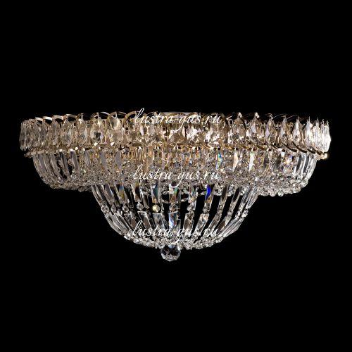 Люстра Кольцо Классика Пластинка, Диаметр - 600 мм,  золото