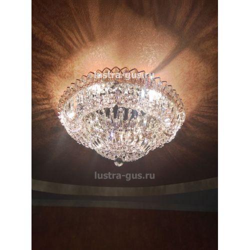Люстра Кольцо Классика Пластинка, Диаметр - 600 мм, цвет - золото, Люстры Гусь Хрустальный