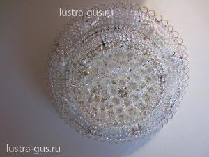Хрустальная люстра Кольцо пирамида шар 40 мм (Гусь-Хрустальный) в интерьере квартиры
