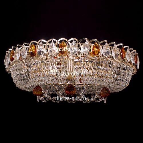 Люстра Кольцо Снежинка чайная, диаметр 500 мм, цвет золото