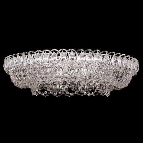 Люстра Кольцо Снежинка, диаметр 700 мм, цвет серебро