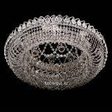 Люстра Кольцо Снежинка, диаметр 700 мм, цвет серебро, Люстры Гусь Хрустальный