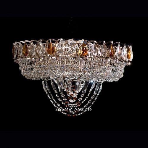 Люстра Кольцо Водоворот, 450 мм, золото