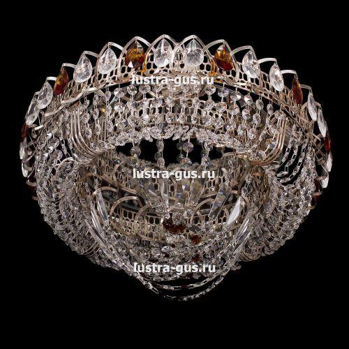 Люстра Кольцо Водоворот, 400 мм, золото, Люстры Гусь Хрустальный