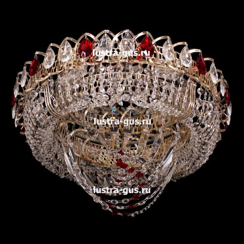 Люстра Кольцо Водоворот, 400 мм, золото