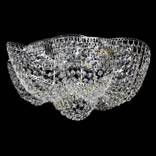 Люстра Космея №1, диаметр - 500 мм, цвет - серебро Гусь Хрустальный