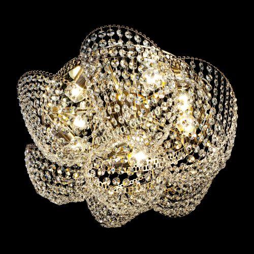 Люстра Космея №1, диаметр - 520 мм, цвет - золото, Люстры Гусь Хрустальный