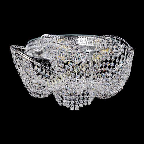 Люстра Космея №1, диаметр - 520 мм, цвет - серебро Гусь Хрустальный