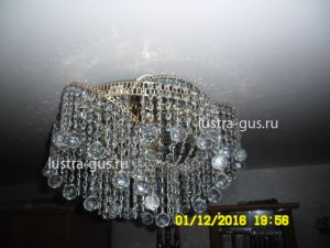 Хрустальная люстра Космос шар 30 мм (завод Гусь-Хрустальный) в интерьере квартиры