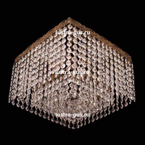 Люстра Квадрат Гамма, диаметр - 300 мм, цвет - золото, Люстры Гусь Хрустальный