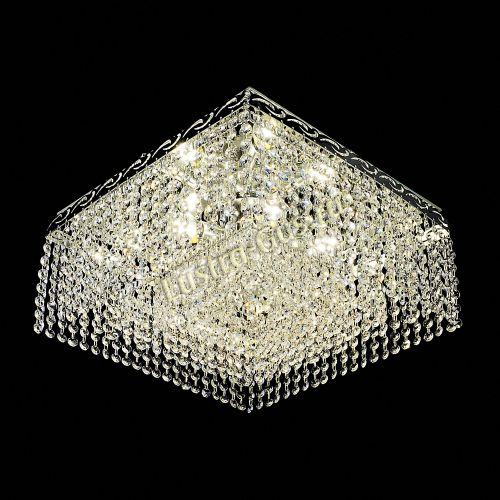 Люстра Квадрат Гамма, диаметр - 440 мм, цвет - серебро, Люстры Гусь Хрустальный