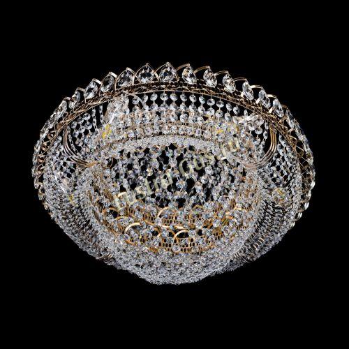Люстра Лада, диаметр 600 мм, золото Гусь Хрустальный