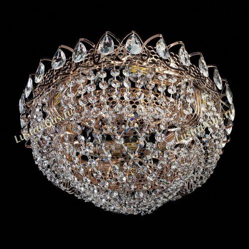 Люстра Лада, диаметр 400 мм, золото, Люстры Гусь Хрустальный
