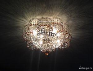 Хрустальная люстра Лотос (Гусь-Хрустальный) в доме
