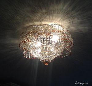 Хрустальная люстра Лотос (Гусь-Хрустальный) в комнате