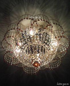 Хрустальная люстра Лотос (Гусь-Хрустальный) в интерьере квартиры