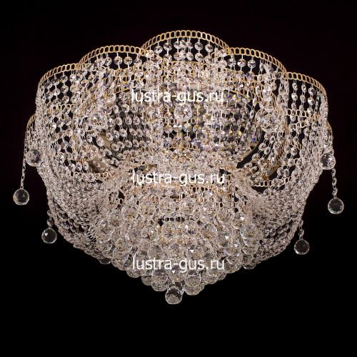 Люстра Лотос Александра, диаметр 600 мм, цвет золото, Люстры Гусь Хрустальный