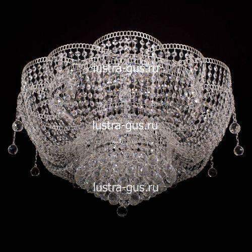 Люстра Лотос Александра, диаметр 700 мм, цвет серебро, Люстры Гусь Хрустальный