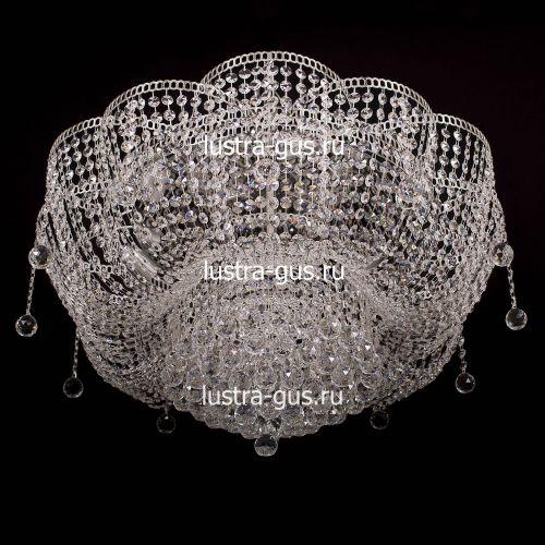 Люстра Лотос Александра, диаметр 700 мм, цвет серебро Гусь Хрустальный