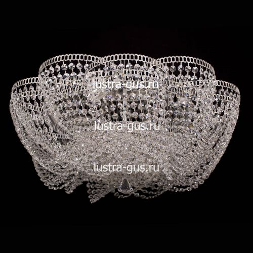 Люстра Лотос Елена, диаметр 700 мм, цвет серебро