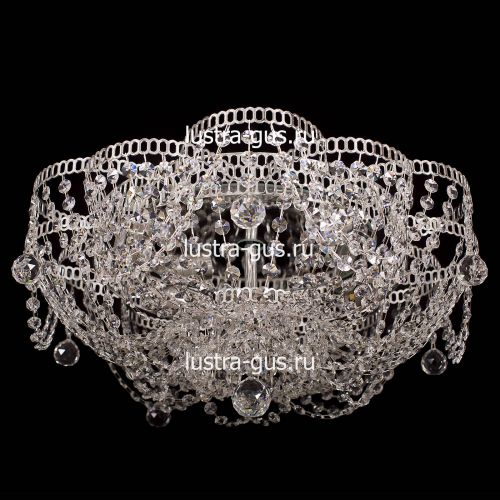Люстра Лотос Ольга, диаметр 500 мм, цвет серебро