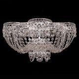 Люстра Лотос Пион, диаметр 500 мм, цвет серебро
