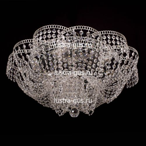Люстра Лотос Пион, диаметр 600 мм, цвет серебро, Люстры Гусь Хрустальный