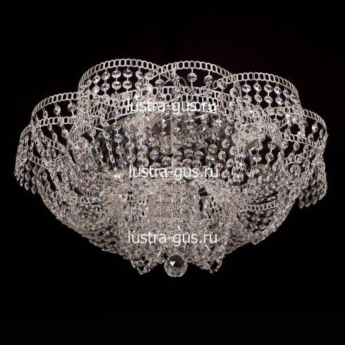 Люстра Лотос Пион, диаметр 600 мм, цвет серебро