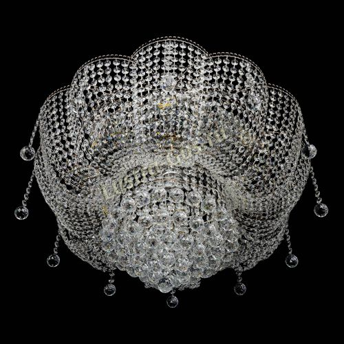 Люстра Лотос Александра, диаметр 700 мм, цвет золото Гусь Хрустальный