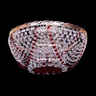 Люстра потолочная Анжелика 6 ламп + низ красная