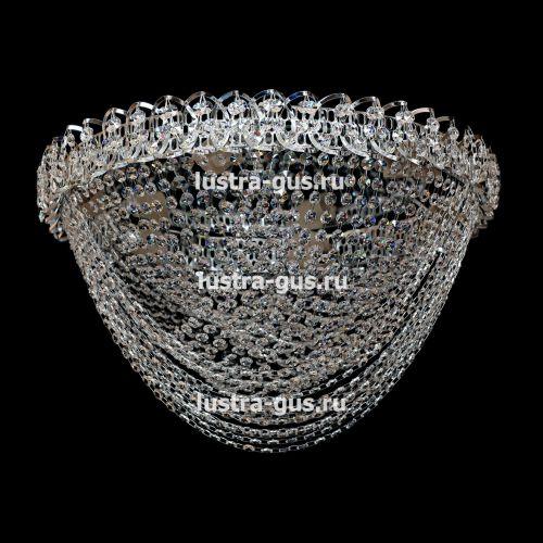 Люстра Фантазия Водоворот, цвет фурнитуры: серебро, Люстры Гусь Хрустальный