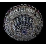 Люстра Кольцо Классика фиолетовая, диаметр 450 мм, цвет золото, Люстры Гусь Хрустальный