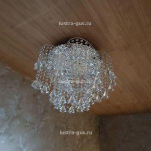 Хрустальная люстра  Космос конус (завод Гусь-Хрустальный) в интерьере квартиры, коридор