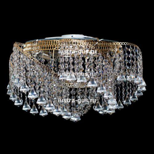 Люстра Космос конус, Диаметр 700 мм, 6 ламп, золото
