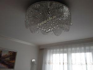 Люстра Виктория шар 800 мм Гусь-Хрустальный в интерьере квартиры